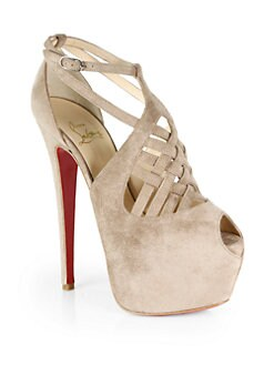 Christian Louboutin - Carlota Suede Platform Sandals