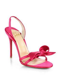 Christian Louboutin - Grusanda Satin Bow Sandals