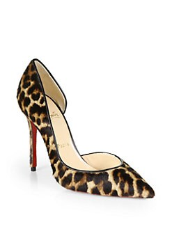 Christian Louboutin - Iriza Leopard-Print Pony Hair Pumps