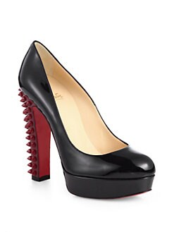 Christian Louboutin - Taclou Spiked Patent Leather Platform Pumps