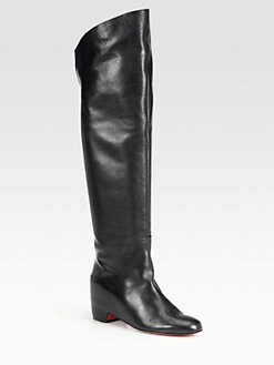 Christian Louboutin - Beatriche Leather Over-The-Knee Boots