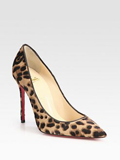 Christian Louboutin - Decollete Leopard-Print Pony Hair Pumps