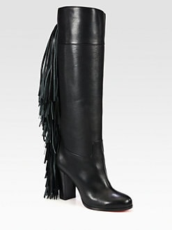 Christian Louboutin - Glamafrange Fringe Leather Boots