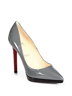 Christian Louboutin - Pigalle Plato Patent Leather Platform Pumps
