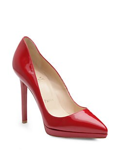 Christian Louboutin - Pigalle Plato 120 Patent Leather Platform Pumps