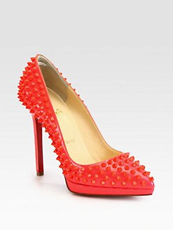 Christian Louboutin - Pigalle Plato Spiked Patent Leather Pumps