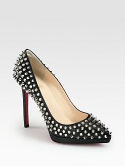 Christian Louboutin - Pigalle Plato 120 Studded Leather Pumps