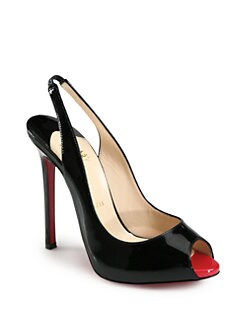 Christian Louboutin - Flo Patent Leather Slingback Pumps