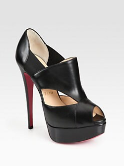 Christian Louboutin - Pitou Leather Platform Pumps