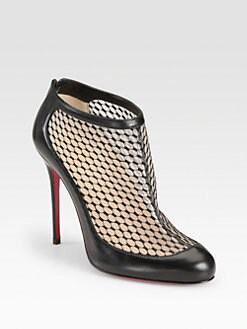 Christian Louboutin - Anna May Lace & Leather Ankle Boots