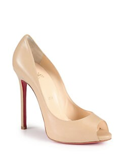 Christian Louboutin - Flo Leather Platform Pumps