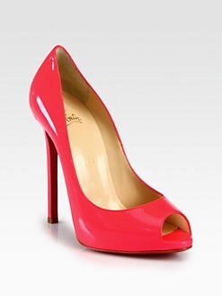 Christian Louboutin - Flo Patent Leather Platform Pumps