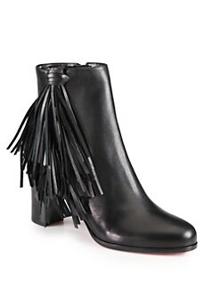 Christian Louboutin - Jimmynetta Fringe Leather Ankle Boots