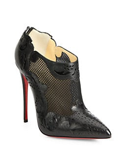 Christian Louboutin - Mandolina Mesh & Leather Ankle Boots
