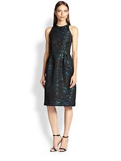 Carmen Marc Valvo - Brocade Ikat-Print Dress