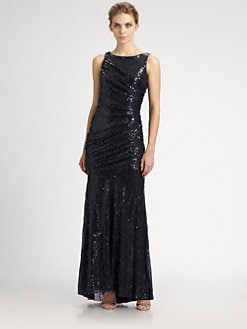 Carmen Marc Valvo - Sequined Gown