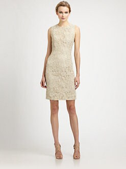 Carmen Marc Valvo - Lace Shift Dress