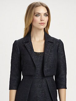 Carmen Marc Valvo - Cropped Brocade Jacket