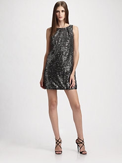 Carmen Marc Valvo - Sequin Sheath Mini Dress