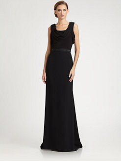 Carmen Marc Valvo - Beaded Waist Gown