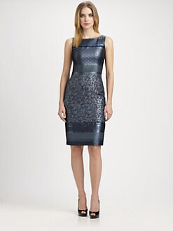 Carmen Marc Valvo - Brocade Dress