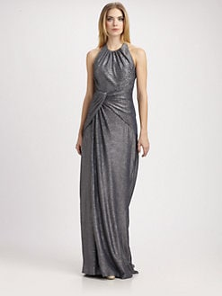 Carmen Marc Valvo - Metallic Gown