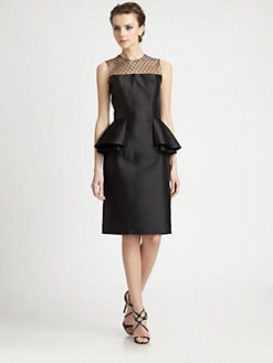 Carmen Marc Valvo - Point d'Esprit Illusion Dress