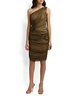 Carmen Marc Valvo - Silk Chiffon Dress