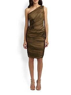 Carmen Marc Valvo - Silk Chiffon Dress