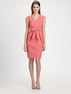 Carmen Marc Valvo - Brocade Bow Dress