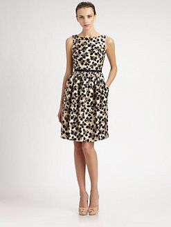 Carmen Marc Valvo - Silk Twill Butterfly Dress