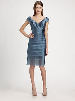 Carmen Marc Valvo - Tiered Organza Dress