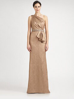 Carmen Marc Valvo - One-Shoulder Gown