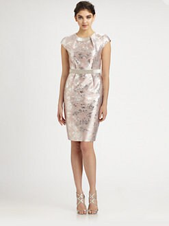 Carmen Marc Valvo - Beaded Brocade Dress