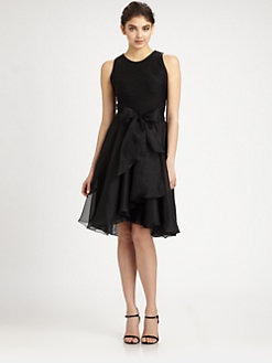 Carmen Marc Valvo - Organza-Skirt Dress