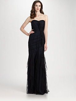 Carmen Marc Valvo - Point d'Esprit Organza Gown