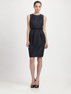 Carmen Marc Valvo - Rectangle Jacquard Dress