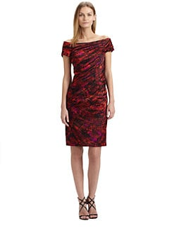 Carmen Marc Valvo - Satin Cocktail Dress