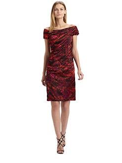 Carmen Marc Valvo - Satin Cocktail Dress