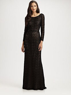 Carmen Marc Valvo - Lace Gown