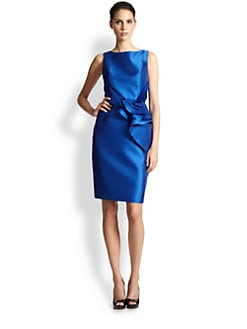 Carmen Marc Valvo - Ruffle-Front Dress