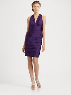 Carmen Marc Valvo - Silk Crepe Dress