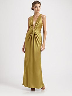 Carmen Marc Valvo - Satin Gown