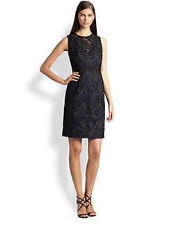 Carmen Marc Valvo - Lace Overlay Dress