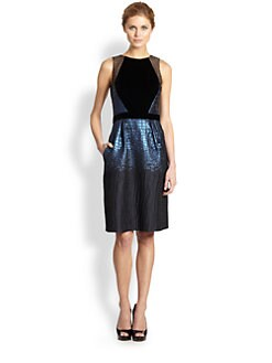 Carmen Marc Valvo - Crocodile Brocade Dress