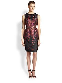 Carmen Marc Valvo - Floral Brocade Dress