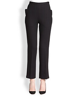 HONOR - High-Waisted Wool Crepe Pants