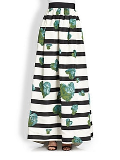 HONOR - Roca Print Silk Faille Skirt