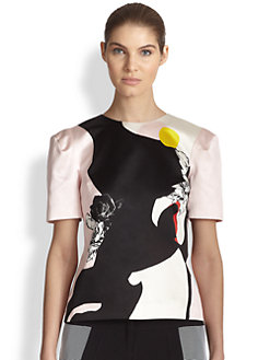 Prabal Gurung - Abstract Print Top
