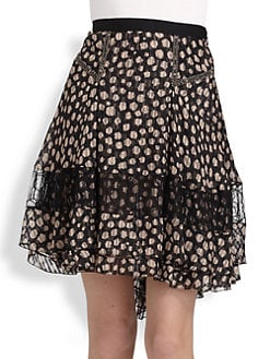 Jason Wu - Silk Chiffon Dot Print Skirt
